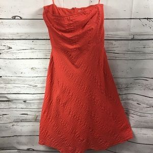 J Crew- Strapless Coral/Red Summer Dress Size 10